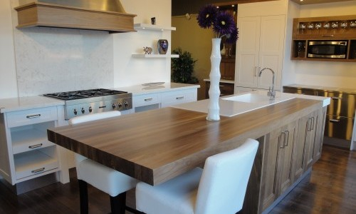 Walnut kitchen Island, Ontario
